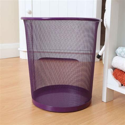 waste baskets for bedrooms large colourful metal mesh waste paper basket office