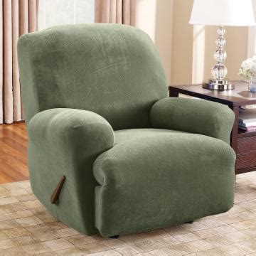 fit stretch pique large recliner slipcover chair