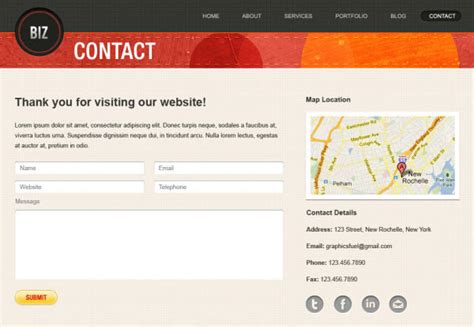 website templates for contact us pages download free high quality well designed psd website