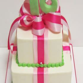 fun  feminine birthday package cake scrumptions