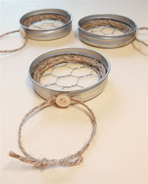 chicken wire ornaments jar lid chicken wire ornaments