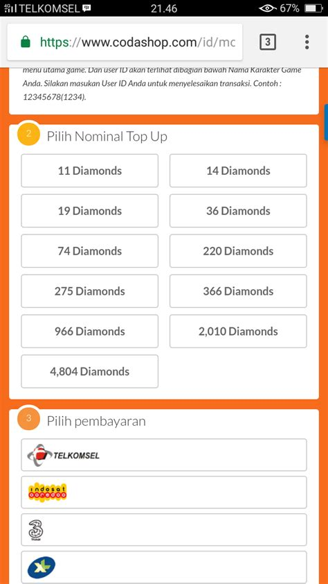 codashop mobile legend member mobile legend cara beli diamond lewat codashop via pulsa
