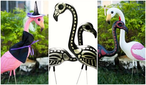 give  pink flamingo  halloween makeover   takes