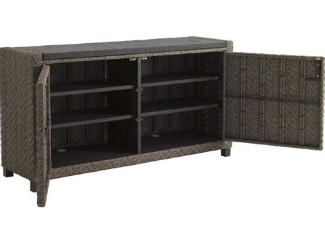 Patio Buffet Server by Bahama Outdoor Blue Olive Wicker 60 X 16