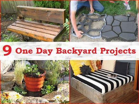Yard Projects Simple Backyard Projects You Can Complete In One Day Diy