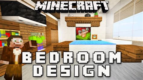 how to make a modern bedroom in minecraft minecraft tutorial how to make a bedroom design modern house build ep 12 youtube