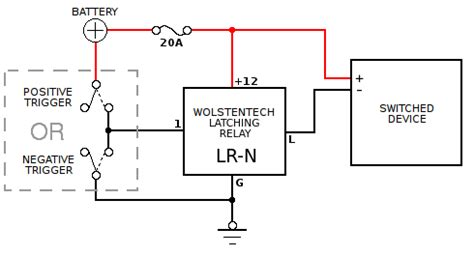 12 volt latching relay diagram 30 wiring diagram images