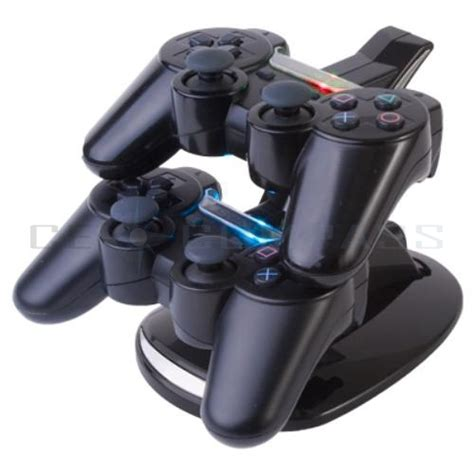 ps3 controler charger led dual controller charger dock station stand charging