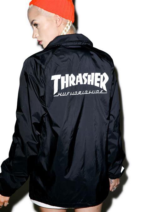 Jaket Trasher huf x thrasher classic h coaches jacket dolls kill