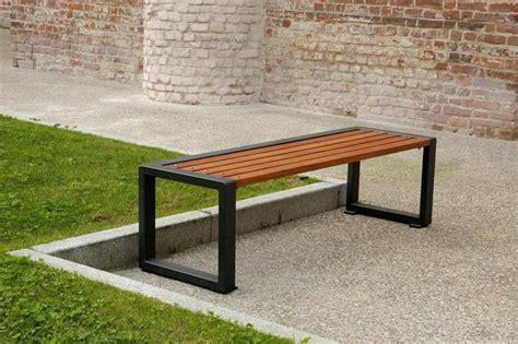 panchine di design panchina senza schienale in legno e acciaio a u esse