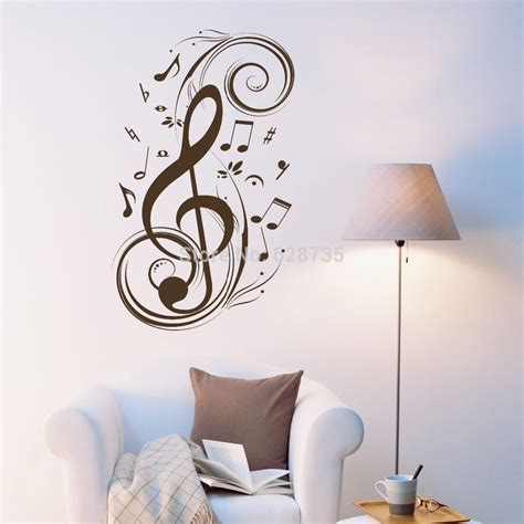 beat note wall stickers vinyl wall stickers
