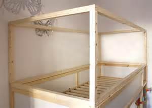 diy ikea bed diy wood house with kura beds ikea hackers ikea hackers