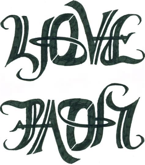 love is pain tattoos ambigram tattoos design tattooshunt