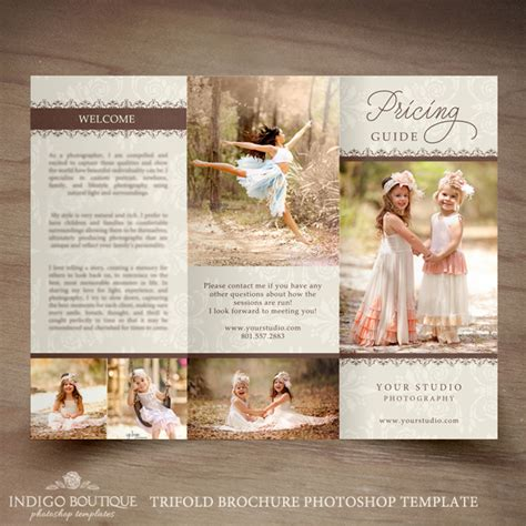 photography brochure templates free photography trifold brochure template client