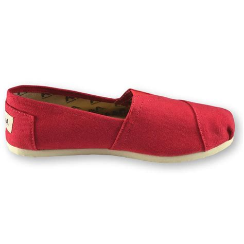 classic red red classic canvas slip on shoes for women a a
