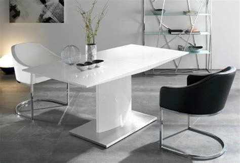 White Gloss Dining Room Table Collection In High Gloss Extending Dining Table Malaga 180cm White High Gloss Extending Dining