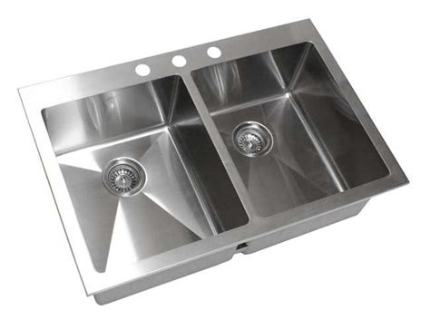 stainless steel kitchen sinks top mount 33 inch top mount drop in stainless steel bowl