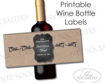 homemade wine label templates bing images