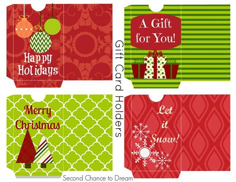 free printable gift tags gift card holders second