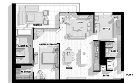 Loft Style Floor Plans by Open Floor Plans With Loft Modern Loft Floor Plans House