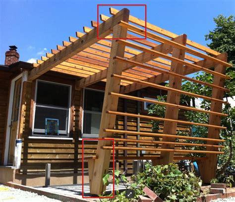 pergola post design mount pergola post at an angle home improvement stack
