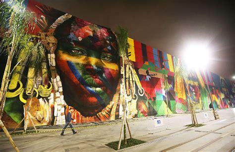 street artist  set  break  world record  olympic