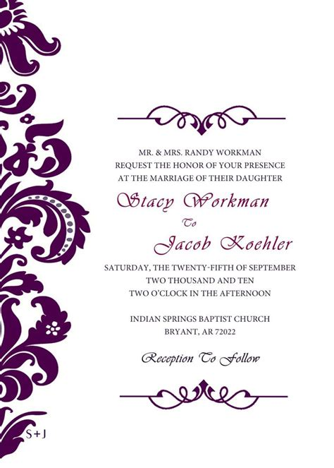Wedding Invitation Templates Invitations Wedding Formal Wedding Invitation Templates Fancy Invitation Template