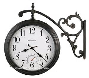 howard miller wall clock 625 358 luis two sided hanging clock