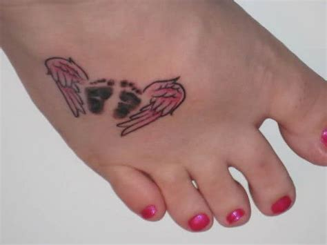 angel wings and baby feet tattoo stay strong pinterest baby loss tattoo quotes quotesgram