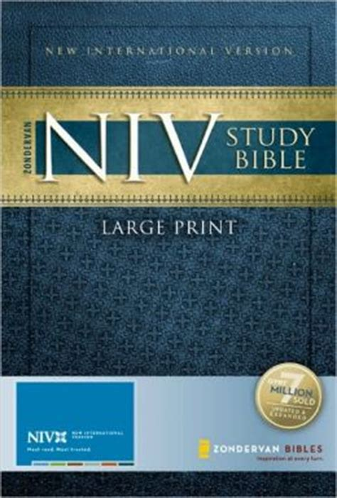 niv gift bible for softcover large print pink books zondervan niv study bible large print by zondervan
