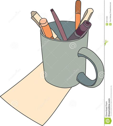 Cartoon Mug Drawing Stock Vector   Image: 50172460