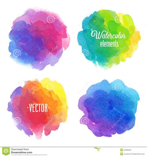 design elements watercolor vector watercolor design elements stock vector image