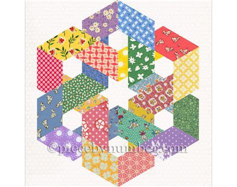 pattern blocks en francais hexagonia quilt block pattern paper pieced quilt pattern