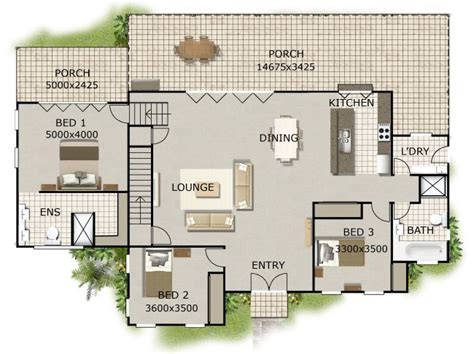 affordable open floor plans open plan 3 bedroom home design perth house builders