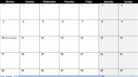 free calendar templates printable best large calendar templates
