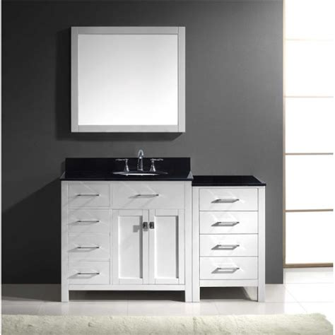 bathroom vanity with drawers on left side caroline parkway 57 single bathroom vanity cabinet set