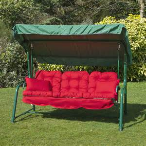 Cushions For Outdoor Swing Alfresia Luxury Garden Swing Seat Cushions 3 Seater