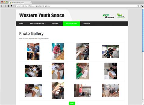 home website gallery youth innovations website design