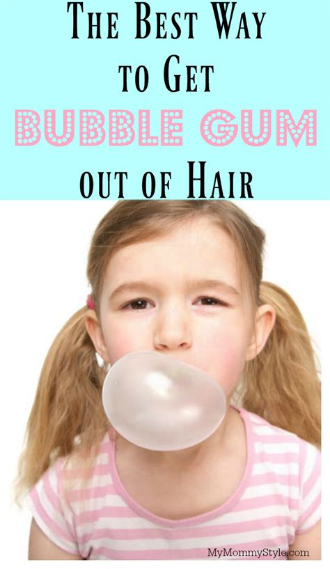 the best way to get gum out of hair my mommy style
