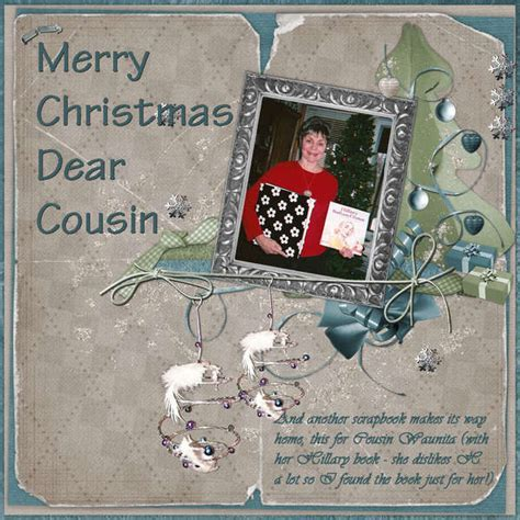 digital merry christmas dear cousin