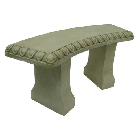 concrete garden bench lowes shop 15 75 in h fauxcrete bench garden statue at lowes com