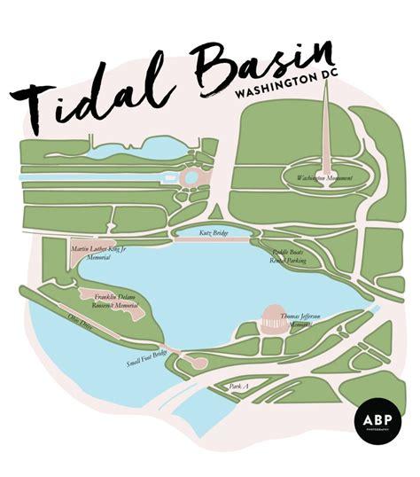 washington dc map tidal basin washington dc monument guide tidal basin