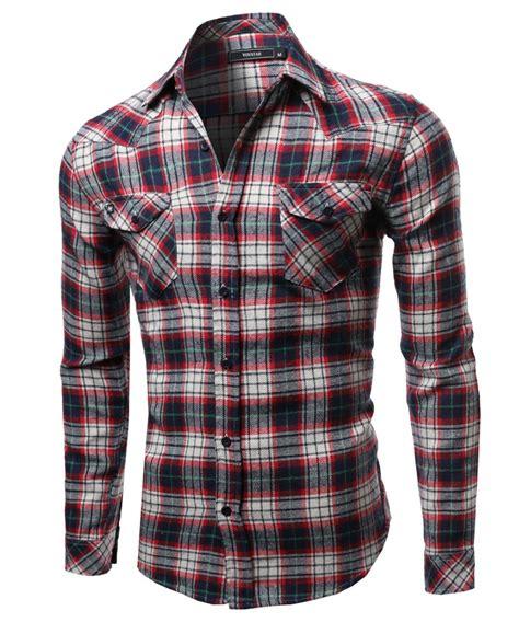 scotch plaid scotch plaid flannel long sleeve button down shirt