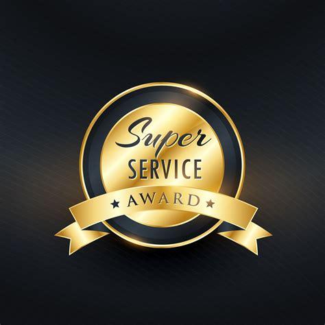 best award service award label design vector free vector