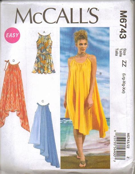 sewing pattern summer dress new mccalls sewing pattern summer dress misses size your