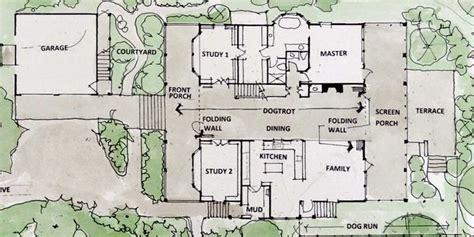 dogtrot house plan floor plans dog trot houses house plans pinterest arkansas movable walls and