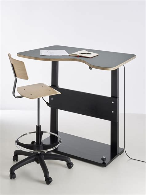 sit stand desk chair aalborg sit stand adjustable desk for classrooms and