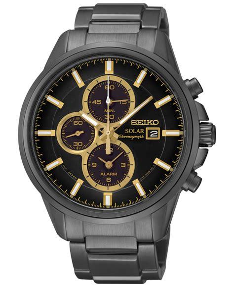 Eiko Chronograph Sks525p1 Black Two Tone Gold seiko s solar chronograph black tone stainless steel