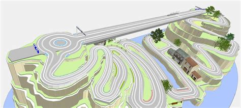 Ultimate Racer Layout | 3d layouts scenery with ultimate racer slot car