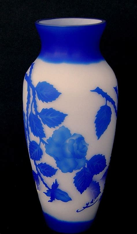 cameo glass vase marked galle from rlreproshop on ruby